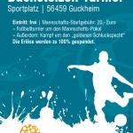 Charity-Event e.V., Flyer Bachstelzenturnier, Spende, Westerwald